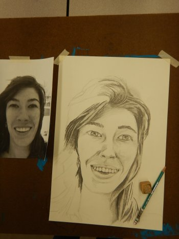 Drawing of Ms. Kowsky